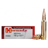 Náboj kulový Hornady, Superformance, .308 Win., 165GR, SST